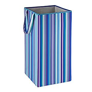 Honey-Can-Do HMP-01134 Foldable Square Hamper, Striped Design