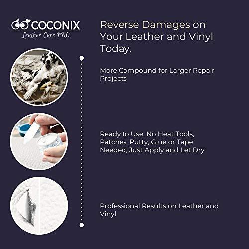 Coconix White Leather and Vinyl Repair Kit - Restorer of