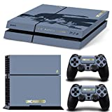 Ps4 Playstation 4 Console Skin Decal Sticker Uncharted 4 Limited + 2 Controller Skins Set