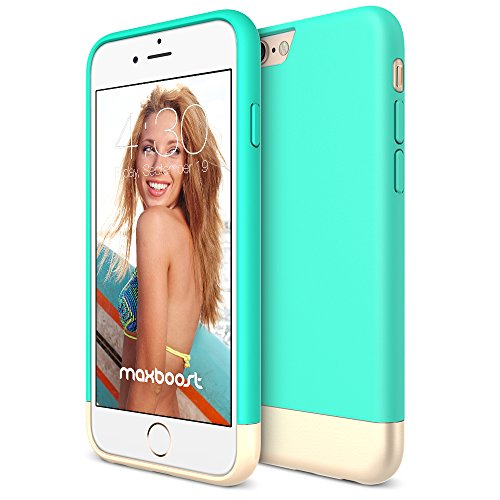 iPhone 6S Case, Maxboost [Vibrance S - Mint/Champagne Gold] Protective Slider Case Soft-Interior Scratch Protection Finished Hard Case for Apple iPhone 6 & iPhone 6S - Slider Case