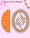 Cheery Lynn Designs DL136AB Japanese Garden Lace Oval with Angel Wing 3 and Vines 4-pc Set