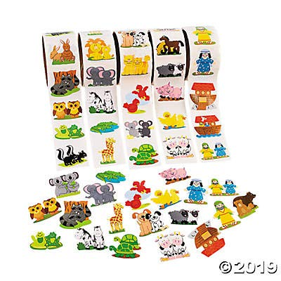 FE Noah's Ark Stickers 600 Assorted: Toys & Games