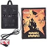 Prextex Halloween Electronic Talking Doorbell with Wicked Greeting Sounds Halloween Decoration