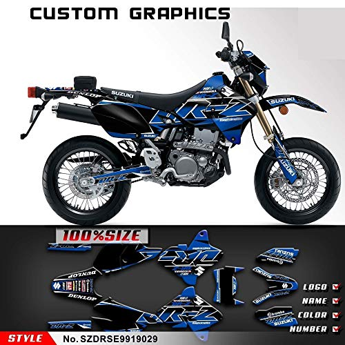 - Kungfu Graphics Custom Decal Kit for Suzuki DRZ400 SM DRZ400SM Supermoto 1999 2000 2001 2002 2003 2004 2005 2006 2007 2008 2009 2010 2011 2012 2013 2014 2015 2016 2017 2018 2019, Black