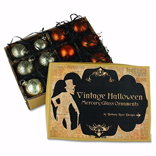 Bethany Lowe Designs Vintage Halloween Mercury Glass Ornaments