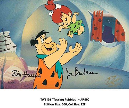 Hanna & Barbera Tossing Pebbles From The Flinstones Warner Brothers Studio Hanna -