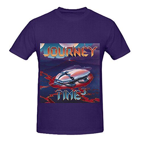 Journey Time3 Men O Neck Music Shirt Purple (Croft Barrow Leather Jacket)