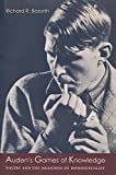 Auden's Games of Knowledge 9780231113526