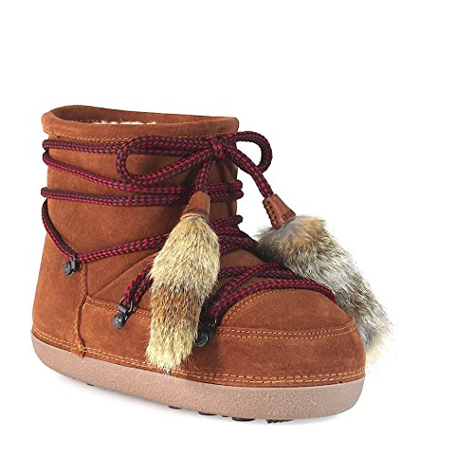 Dsquared2 2018 Boot Women Cognac Suede 2017 FW Snow S4ZrSwq