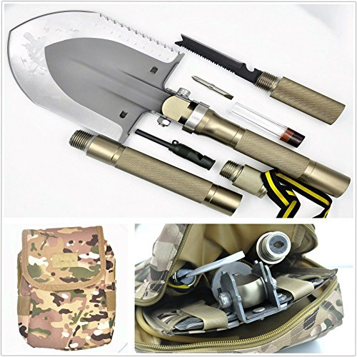 BANG TI Super High Strength Military Folding Shovel (15-in-1 Multifunction) A Must-have for Off Road and Outdoor Survival