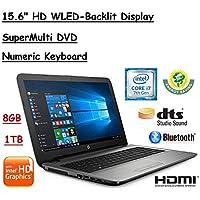 2017 Flagship Model HP Pavilion 15.6 Premium High Performance HD WLED-Backlit Laptop, 7th Gen. Intel Core i7-7500U, 8GB RAM, 1TB HDD, Windows 10