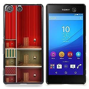 """For Sony Xperia M5 Case , Minimalista Wallpaper profundo Diseño"""" - Diseño Patrón Teléfono Caso Cubierta Case Bumper Duro Protección Case Cover Funda"""