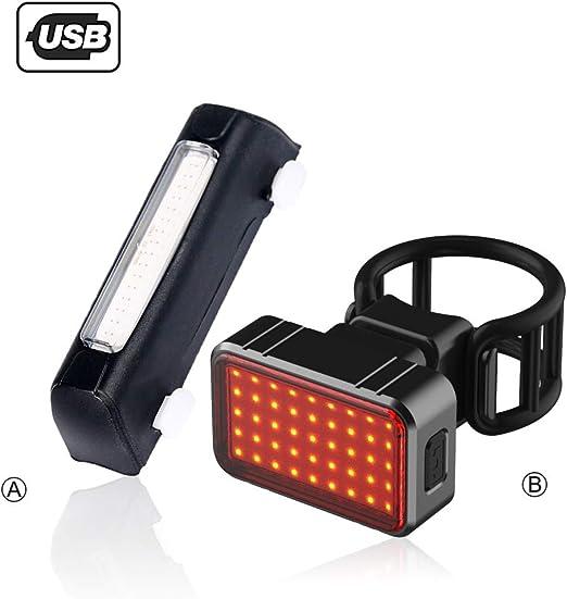 MTXD Faro Trasero Bici, Luz Trasera Recargable LED Impermeable para Bicicleta, Luz Estroboscópica De Advertencia De Seguridad De Alta Visibilidad Roja -11.21: Amazon.es: Hogar