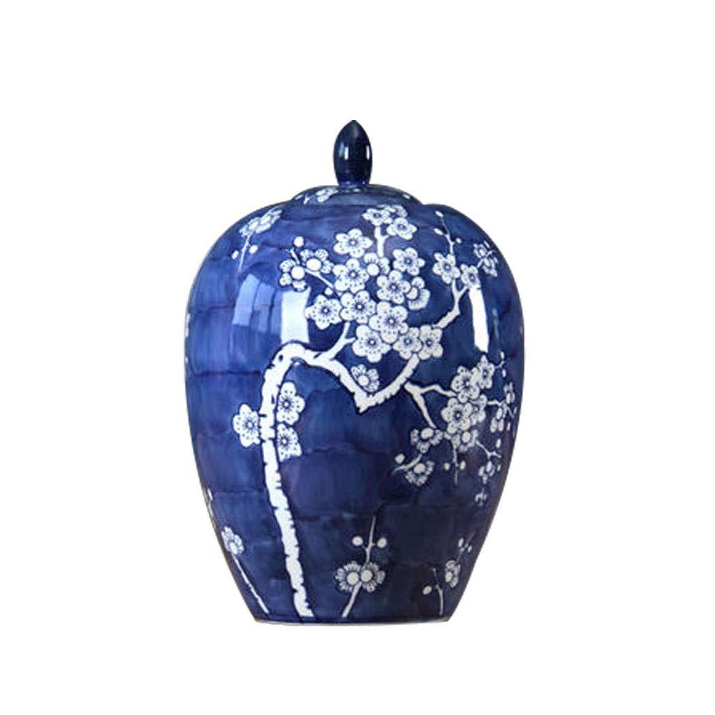 セラミック青と白の磁器の瓶花瓶現代の家庭用テレビキャビネット装飾飾り LQX B07R393KR8