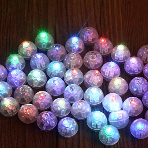 China Tumbler (10Pcs/lot Round Ball Tumbler LED Balloon Lights Mini Flash Luminous Lamps for Lantern Bar Christmas Wedding Party Decoration ( Please Select Color ))