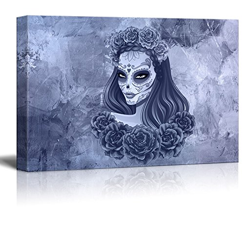 Print Day of the Dead (Dia De Los Muertos) Themed Beautiful Sugar Skull Woman