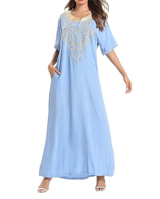 Mujeres Abaya Vestido Largo Arabe - Ropa Musulmana Sueltos ...