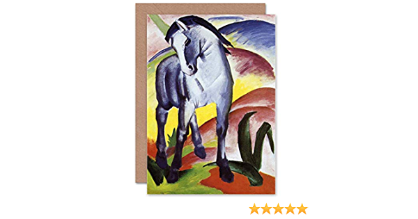 Franz Marc Blue Horse I 1911 Old Master Birthday Blank Greeting Card