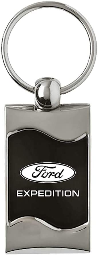 INC Au-Tomotive Gold - Black Spun Brushed Compatible Keychain and Keyring for Ford Expedition KC3075.XPD.BLK