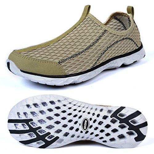 sports shoes 8f73f fc2ee Feetmat Mens Slip auf Wasser Schuhe sportliche Wanderschuhe Gelb
