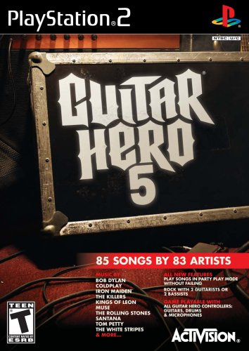 (Guitar Hero 5 Stand Alone Software - PlayStation 2 (Game only))