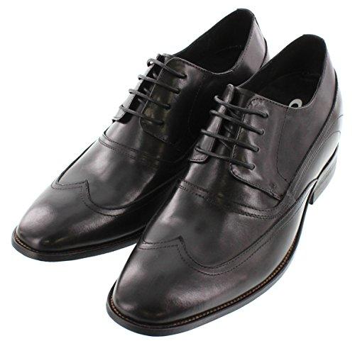 calto–a1136a–8,1cm Grande Taille–Hauteur Augmenter Chaussures ascenseur–Noir à Lacets Oxfords