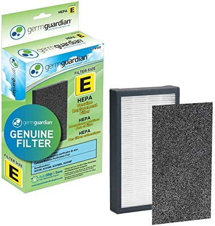 Guardian Technologies GermGuardian Air Purifier Filter FLT4100 Genuine HEPA Replacement Filter E for AC4100, AC4100CA AC4150BL, AC4150PCA Germ Guardian Air Purifiers