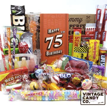 75th Birthday Retro Candy Gift Basket