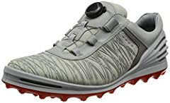 The ecco cage pro boa is our high-performance answer to those wishing for spike-like traction from a hybrid style shoe, regardless of the course conditions, the speed-grip(tm) outsoles provide improved traction. Combined with the renowned boa...