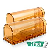 Pestai Humane Smart Mouse Trap,No Kill Rodent Traps 2 Pack,Live Catch and Release Rat Trap,Safe for Child and Pet Mouse Cage Reusable Box for Small Rat Mouse Mole Hamster Cat