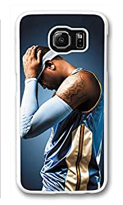 Galaxy S6 Case, S6 Cases, Custom Carmelo Anthony Galaxy S6 Bumper Case [Scratch Resistant] [Shock-Absorbing] Hard Plastic White Protective Cover Cases for New Samsung Galaxy S6