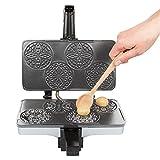 CucinaPro Piccolo Pizzelle Baker, Grey Nonstick