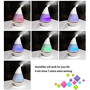 Home Car Oil Diffuser Humidifier LED Light 7Colors USB 5V 200ml Mist Maker Mini Aromatherapy Ultrasonic Fog Appliances