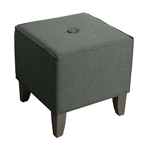 Kinfine Upholstered Cube Ottoman, Herringbone - Upholstered Small Bench