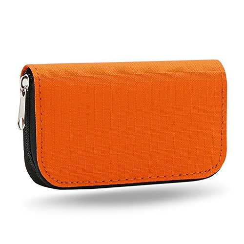 Price comparison product image Bluelans® 22 Slots Case Pouch Holder Wallet for SD SDHC MMC CF Micro SD Memory Card (Orange)