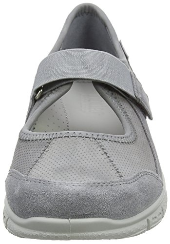 Hotter AURAXS, Zapatillas con Velcro Mujer Gris (Hellgrau)