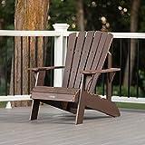 Lifetime 60289 Adirondack Chair, Rustic Brown