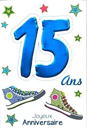 Age Mv 69 2015 Carte Joyeux Anniversaire 15 Ans Ados Garcon Fille