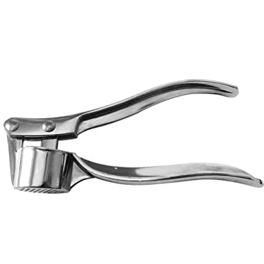 CHICHIC Professional Kitchen Stainless Garlic Press Garlic Mincer Ginger Crusher Peeler Squeezer Heavy Duty Garlic Presser Garlic Crush Garlic Chopper, User Friendly, Easy to Clean and Highly Durable