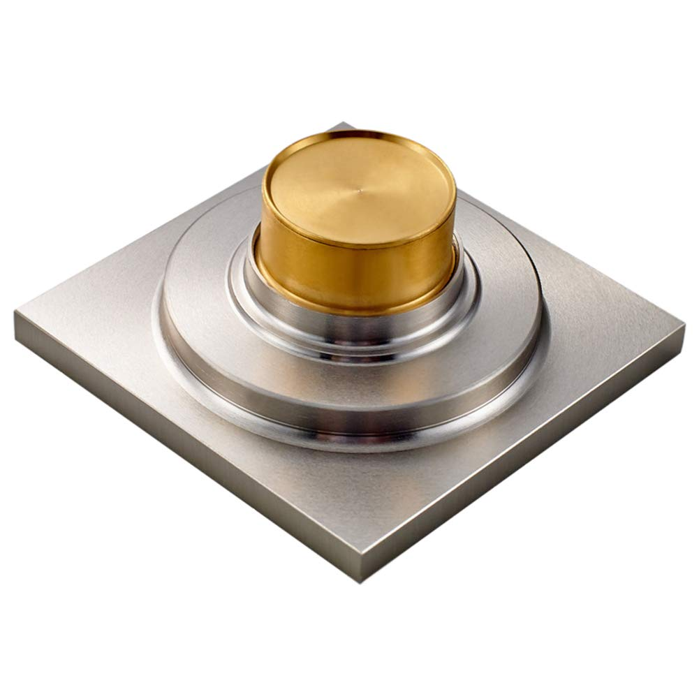 Brass Floor Drain Shower Drain Floor Drain - Square Kitchen Waste Drain Bathroom Deodorant Grate Drain Strainer Cover Grate,B by GPF (Image #2)