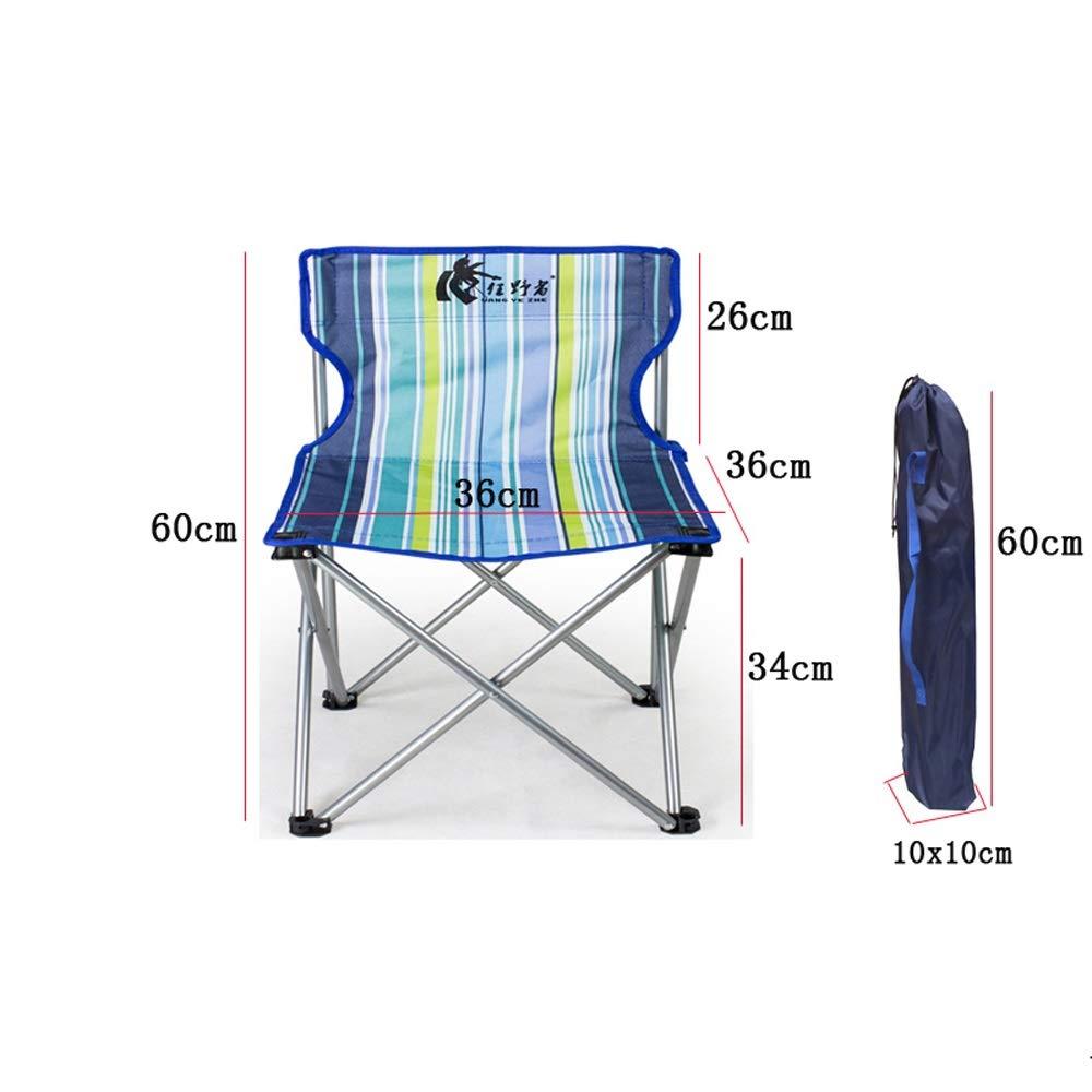bleu L XIGE Chaise de Camping portative, Chaise Pliante extérieure, Chaise de pêche Ultra-légère avec Chaise Confortable de Plage de Loisirs de siège Vert Bleu Orange