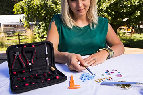 THIS-CRAFTING-KIT-HAS-IT-ALL-For-Fashioning-Your-Treasures-Jewelry-Pliers-Tweezers-Caliper-Awl-Beadscoop-and-Needles-Enjoy-Beading-Making-Jewelry-and-Wire-Crafting-With-This-Jewelry-Making-Kit
