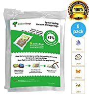 Jumbo Space Saver Vacuum Storage Bags. Save on Jumbo Storage bags compared to Ziploc Vacuum Seal. Excellent for long term storage or saving extra space while traveling. Pack of 6
