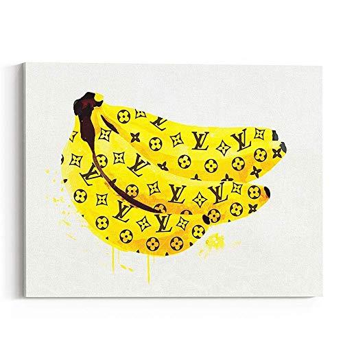 Wall Glam Fashion Art Canvas Print Banana
