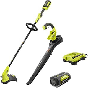 40-Volt Lithium-Ion Cordless String Trimmer and Blower/Sweeper Combo Kit (2-Tools) Includes Battery and Charger