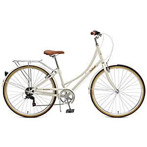 Critical Cycles Beaumont-7 Seven Speed Lady's Urban City Commuter Bike; 44cm, Eggshell, 44cm/Medium