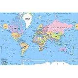 Sous Main Rigide Carte Le Monde [Fournitures de bureau]