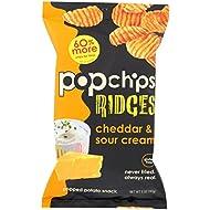 Popchips Ridges, Cheddar & Sour Cream, 5 fl oz