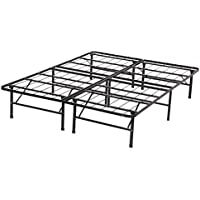 Modern Bi-Fold Full Folding Platform Metal Bed Frame Mattress Foundation