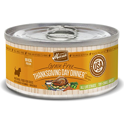 Merrick Classic Grain Free Thanksgiving Day Dinner  Small Breed Wet Dog Food, 3.2 oz, Case of 24 Cans